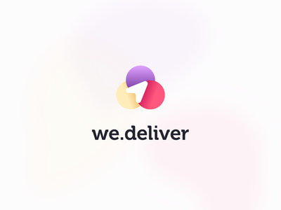 we.deliver lineart logotype arrow clean simple colorful brightness box delivery geo branding logo