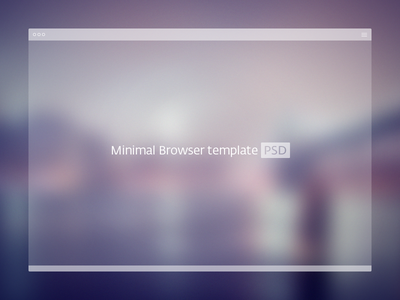 PSD Minimal Browser Template browser template window psd free mockup freebie minimal browser browser window