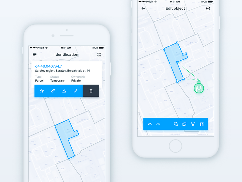 Edit spatial object point design ios edit map geometry spatial geo gis mobile ux ui