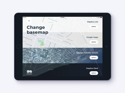 PlainGIS mobile : Basemaps change process 2