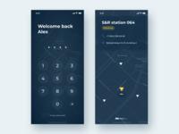 PlainGIS mobile : Lock screen
