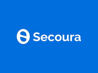 S logo created for Secoura graphic design blue s logo logo startup