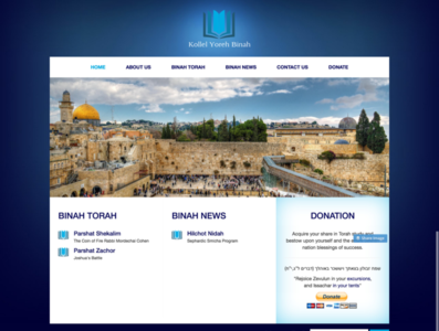 Blogging and donation website for Jewish community website blog design webdesign web blogger blog isreal