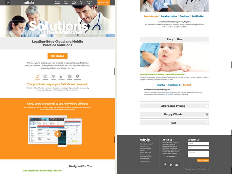 nAbleMD web application responsive website webdesign startup ux ui design