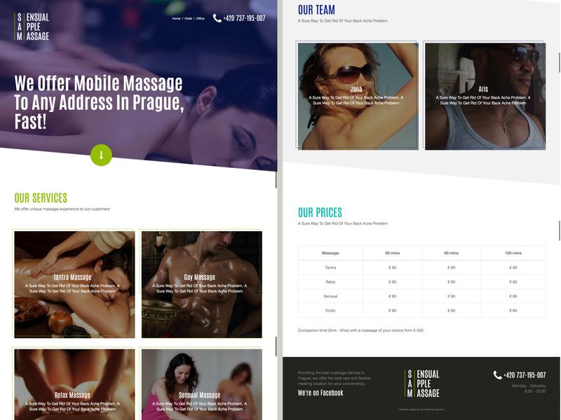 Sensual Apple Message website webdesign responsive ux ui design europe prague massage