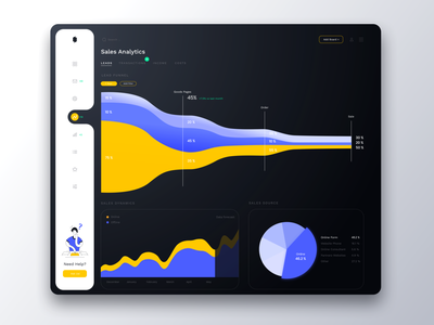Startup Agency Dashboard product design sales tool analytic user interface dashboard product analytics platform illustration startup interface statistics funnel sales black web minimal ui clean design