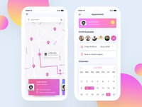 Map and appointment for dating app