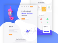Home Service Landing page