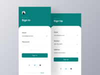 Hotel App Sign-In & Sign-Up UI