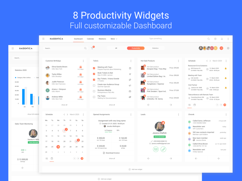 Productivity Widgets for Multifunctional Dashboard hot sale team schedule flat ui kit ui kits ui kit interface design templates web interface design customers leads timeline contacts chart todo productivity statistic widgets dashboard widgets dashboard