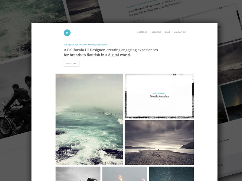 Portfolio Homepage PSD Freebie download grid layout psd web ui portfolio freebie typography template minimal