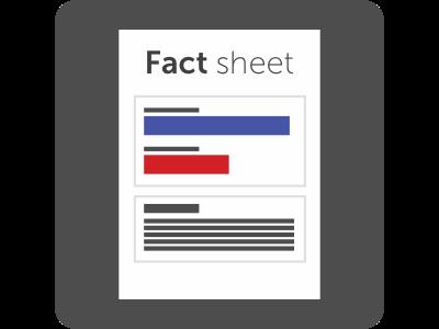 Fact sheet shipping sticker