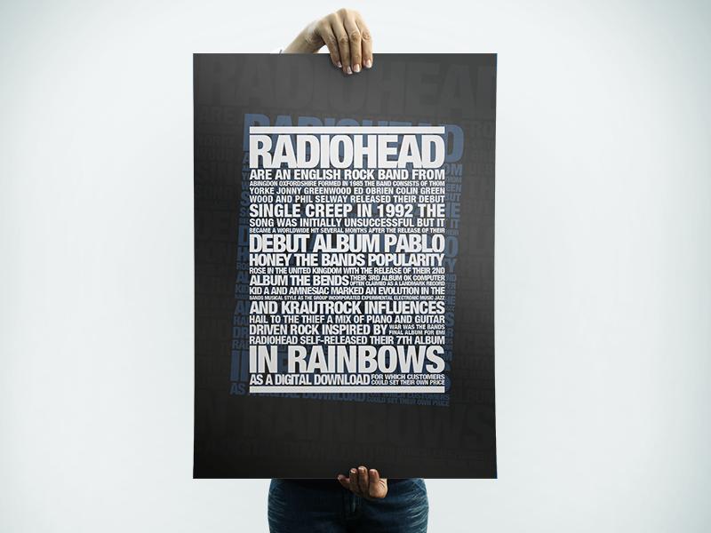 Radiohead Typography Poster typo typography gig poster