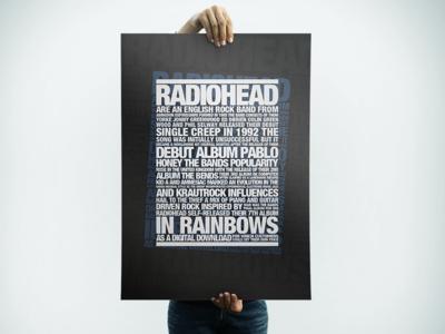Radiohead Typography Poster