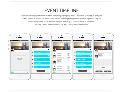 Wedding Krewe iPhone App wedding iphone app ios flat ui