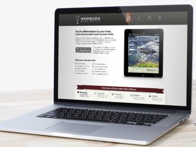 Sommelier Wine App Website