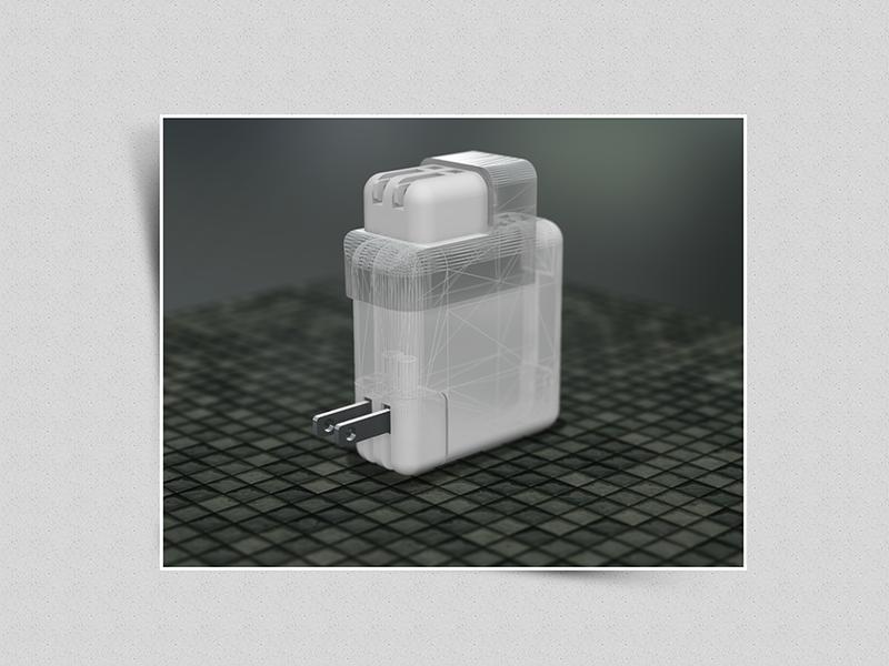 SNAPP - Macbook Wall Charger Accessory 3d maya kickstarter