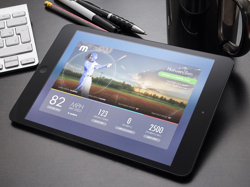 Baseball Metric Report baseball motus ipad html5 app