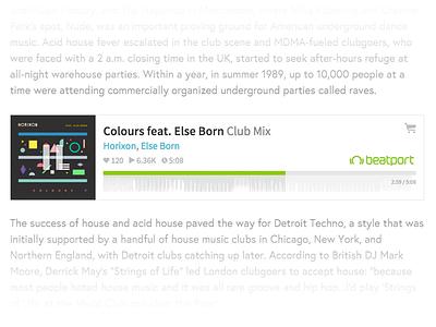 Beatport.com Embeddable Player progress webapp ux ui audio music song waveform