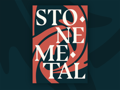 Stone & Metal Poster