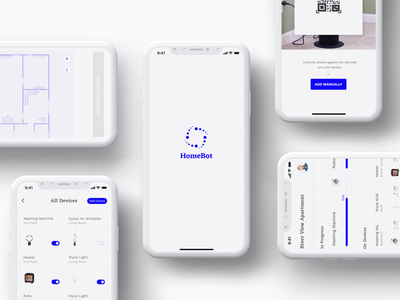 HomeBot | A smart home illustration smart main screen all devices information architecture smart home casestudy