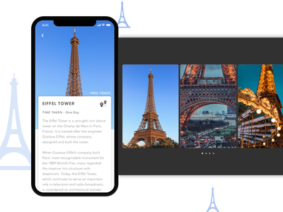 Daily UI - Popup mobile application travel iphonex