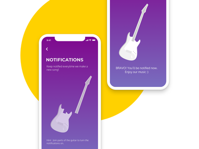 Daily UI - Notifications guitar ui practice daily ui turn-off turn-on notification