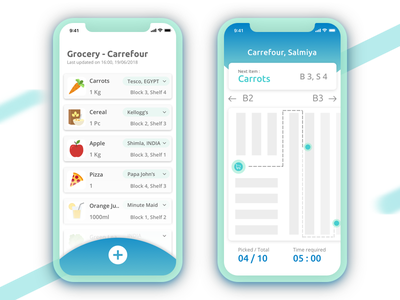 Automated In-store Grocery application - The daily hack series ui practice daily ui fruits vegetables time required in-store the daily hack grocery automation