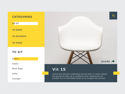 Single Product Page single product page furniture product page daily ui ui practice