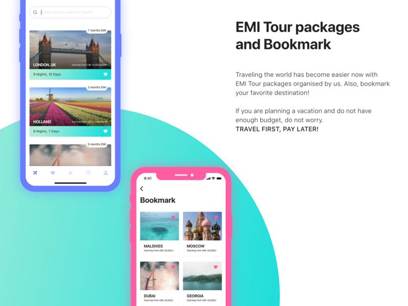 EMI Tour Packages - Traveloka app iphonex ios iosapp appconcept traveloka uiux ui dribbble