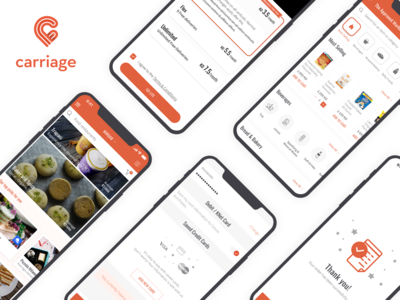 Various features of Carriage iOS App middle east user experience uiux ui ux designer e-commerce app e-commerce grocery app food delivery app