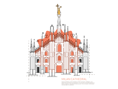 Milan - Milan Cathedral icon souvenir architecture italy milan cathedral duomo graphic design illustration