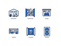 Self storage icons
