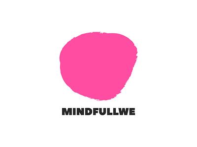 Mindfullwe psychotherapy psychiatry psychology psychologist psychiatrist logotype logo spot pink health mental consciousness