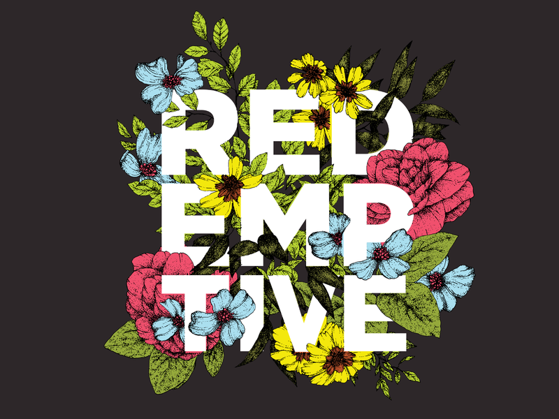 Redemptive Cycles Kit // 01 cycling florals hand drawn mixed media vector typography branding design illustration