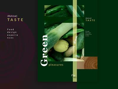 BeTaste ui vegan food veganism green identity design brand design food design desiginspiration web branding typography foodie poster design food