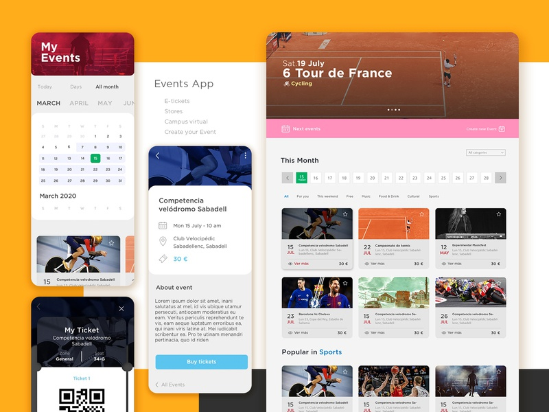 Eventzum App angular web app design inspiration mobile design sketchapp ui design desiginspiration web uiux event app application design app ui  ux ux