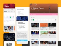 Eventzum App angular web app design inspiration mobile design sketchapp ui design desiginspiration web uiux event app application design app ui  ux ux