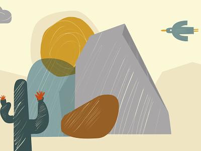 Dessert landscape kids illustration mountains design dessert flat illustration flatdesign minimal desiginspiration illustration vector