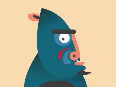 Mandril caracter design icon vector design illustration