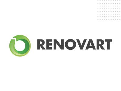 Logo Renovart reciclaje desiginspiration brands branding re-brand cicle renovation