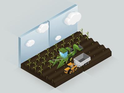 harvest process growing animaiton isometric animation isometric art infografía infografia ux ui web desiginspiration illustration design harvest