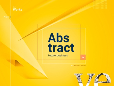 Yellow Minimal background Abstract future background psd design desiginspiration illustration design menu design typogaphy yellow webdesign interface uiux