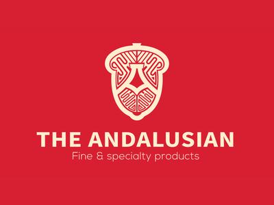 Andalusian - Iberian acorn-fed ham packaging packaging design design art desiginspiration food brand iberian ham acorn brand identity icon spain jamon bellota design branding typography logo
