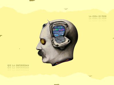 La cura es peor que la enfermedad colombian illustration design illustration digitalart collageart collage