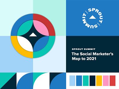 Sprout Summit - Digital event design nautical compass event design sprout summit