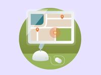 """Geo Software"" illustration for Intetics website"