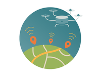 """Geo Data Solutions"" illustration"