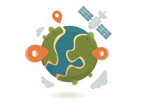 """Geospatial Services"" illustration"