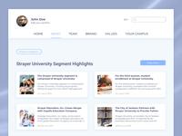 News/website page